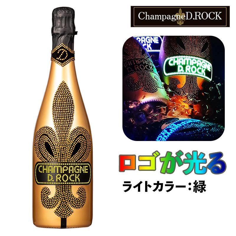 【正規輸入品/送料無料】CHAMPAGNE D.ROCK GOLD LUMINOUS (ロゴ部分発光) シャンパンDROCK ゴールド ルミナス【シャンパン】【スパークリングワイン】