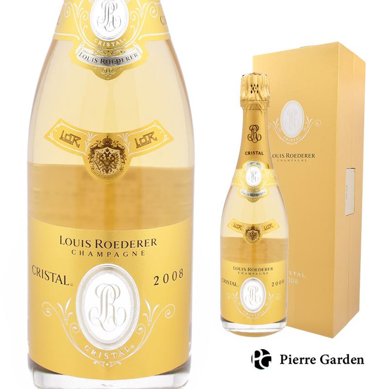 ルイ ロデレール クリスタル ブリュット2008 750ml 箱付き 世界最古のプレステージ・キュヴェ 洋酒 ギフト 母の日 父の日 ギフト プレゼント 内祝い 結婚祝い 誕生日 新築祝い PierreGarden