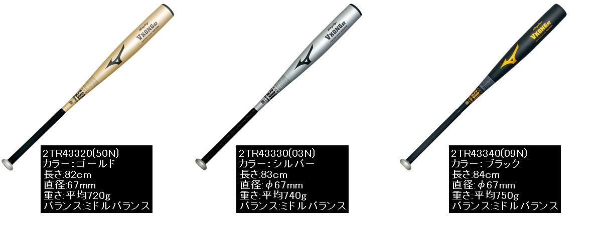 【Mizuno Victory Stage=ミズノビクトリーステージ】野球 金属バット 軟式野球用バット 軟式バット一般軟式用金属製バット【Vコング02】(HS700)<82cm/平均720g/ゴールド><83cm/平均740g/シルバー><84cm/平均750g/ブラック>