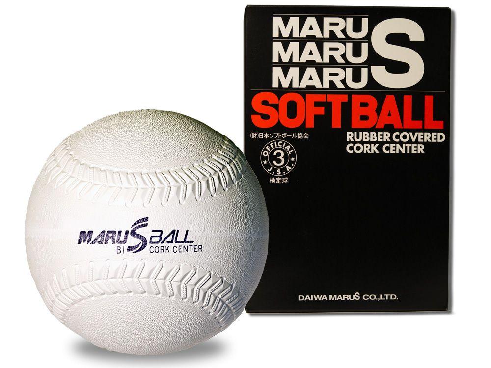 【ダイワマルエスソフトボール】ゴムソフトボール検定球3号(ホワイト)*1doz.(12個入り)単位販売*