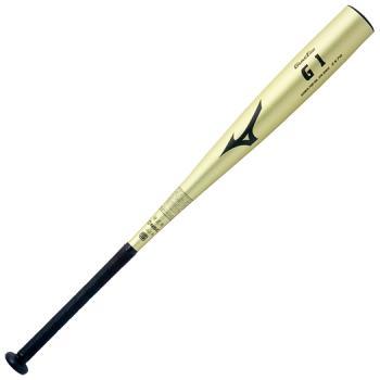【Mizuno Global Elite~ミズノ・グローバルエリート】野球硬式金属製バット<<グローバルエリート>G1(金属製)/83cm/900g以上)>[ゴールド]