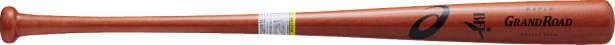 ★即日出荷可 配送地域により価格割引有★【Asics~アシックス】野球硬式用木製バット(メイプル)<GRAND ROAD=グランドロード/BFJマーク付き><S84>84cm(900g平均)<直径:平均φ63mm>(レッド)