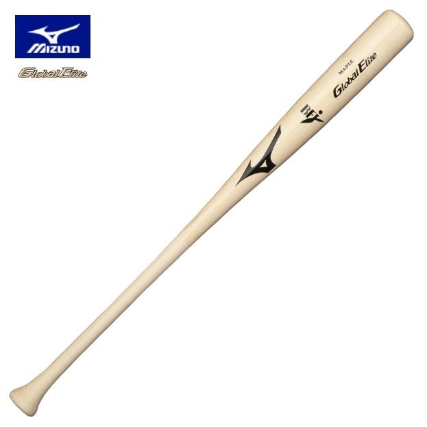 ★即日出荷可★【Mizuno Global Elite~ミズノグローバルエリート】野球 硬式用 木製バット[メイプル/BFJマーク入り/プロモデル HY33型 透明×生地出し]<84cm/平均900g/Φ63mm>大学野球 日本製