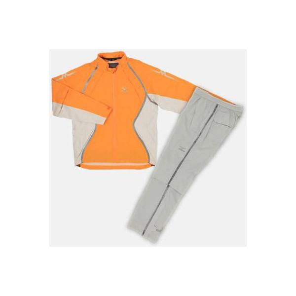 【Mizuno GOLF~ミズノ ゴルフ】ゴルフウェア(紳士/メンズ)ハイパーレインスーツ153(ゴルフ用カッパ)<カラー:オレンジ>[サイズ:L/LL]