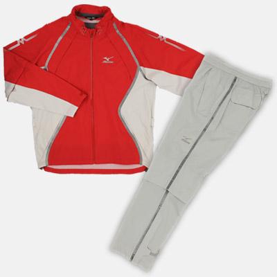 【Mizuno GOLF~ミズノ ゴルフ】ゴルフウェア(紳士/メンズ)ハイパーレインスーツ153(ゴルフ用カッパ)<カラー:レッド>[サイズ:M/L/LL]