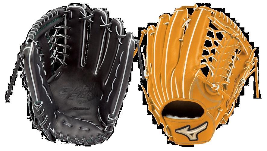 【Mizuno Global Elite~ミズノ グローバルエリート 】野球一般軟式用グラブブランドアンバサダー【長野型】1AJGR98607(サイズ:18N)<ブラック/オレンジ>(右投用/左投用)