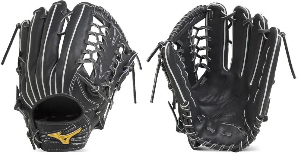 【Mizuno Pro~ミズノプロ】野球硬式用グラブ<フィンガーコアテクノロジー 硬式用上林型:サイズ18N】>硬式外野手用グラブ/FOR HARD BALL<Iブラック/右投用>