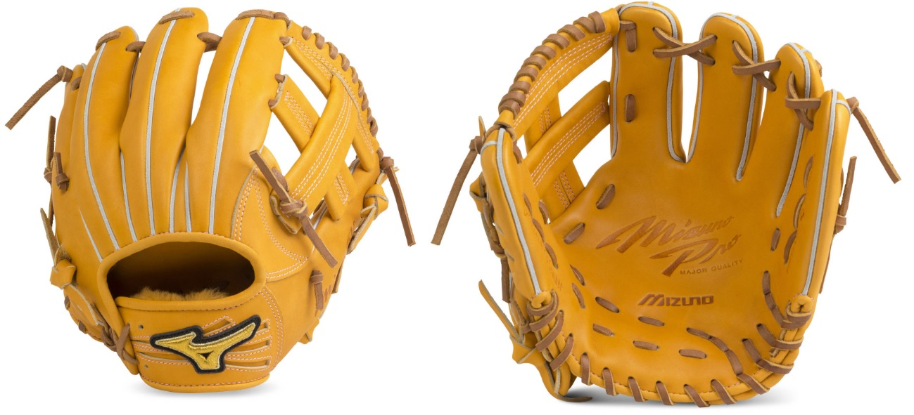 【Mizuno Pro~ミズノプロ】野球硬式用グラブ<フィンガーコアテクノロジー 硬式用【藤田型:サイズ9】>硬式内野手用グラブ/FOR HARD BALL<54:オレンジ/右投用>