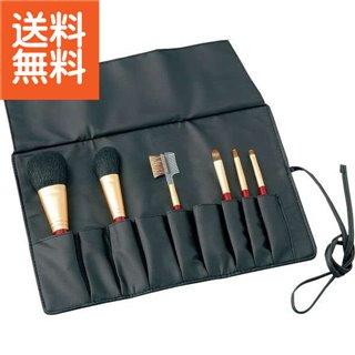 【生活応援セール】【送料無料】|熊野化粧筆セット 筆の心 ブラシ専用ケース付|〈KFi-R156〉【60s】(bo) 内祝い お返し プレゼント 自家消費