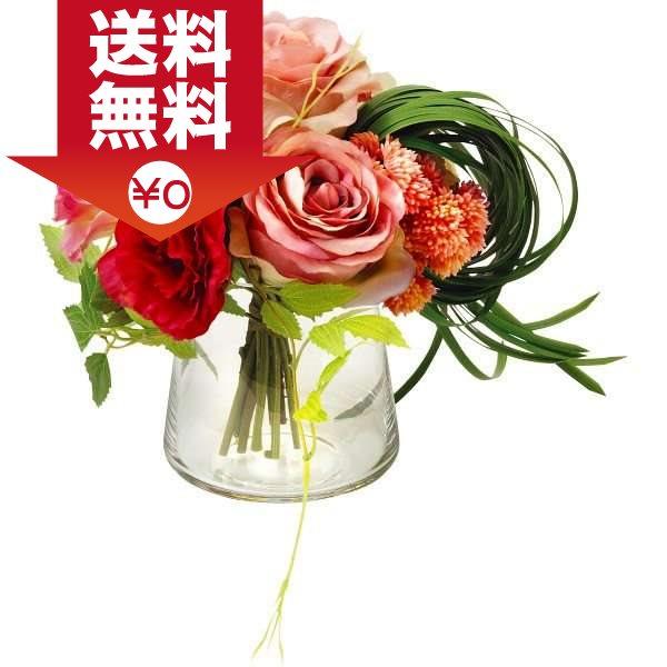 【送料無料】|プリマ ガラスベ-スアレンジ(造花)|〈PRSY-0096〉【80s】(ao) 内祝い お返し プレゼント 贈り物 プレゼント 入学 入園 内祝い ランキング
