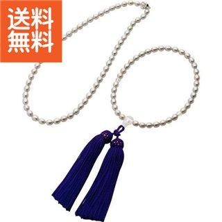 【送料無料】|グレーパールネックレス・念珠セット|〈2Z33733〉【パケット便可】(ae) 内祝い お返し プレゼント 自家消費