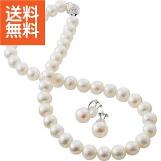 【送料無料】|淡水真珠フォーマルネックレスセット ホワイト|〈BFN‐1860SET(WH)〉【60s】(bo) 内祝い お返し プレゼント 自家消費