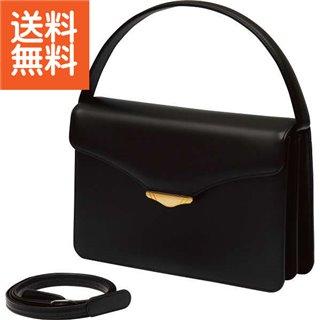 【送料無料】日本製牛革 3ウェイフォ-マルバッグ(黒)〈B6111-13〉(bo) 内祝い お返し プレゼント 自家消費【80s】