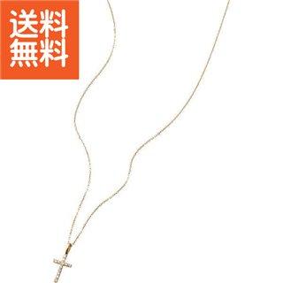 【送料無料】 クロスダイヤモンドペンダント(0.08ct) 〈O2YG〉【60s】(ae) 母の日・父の日 プレゼント
