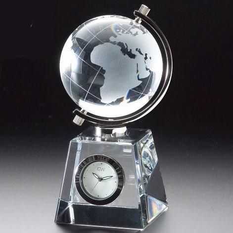 【送料無料】グラスワークスナルミ グローブ クロック〈GW1000‐11011〉 置き時計 ガラス/出産内祝い 内祝い お返し 快気祝い 新築内祝い 引き出物 法事 香典返し [W-F](bo)