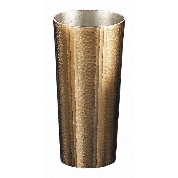 【送料無料】伝統工芸 槌起 金属加工タンブラーストレート線条文〈Cu-S-2〉酒器 記念品 お祝い 御礼 叙勲祝い 叙勲記念 高額記念品