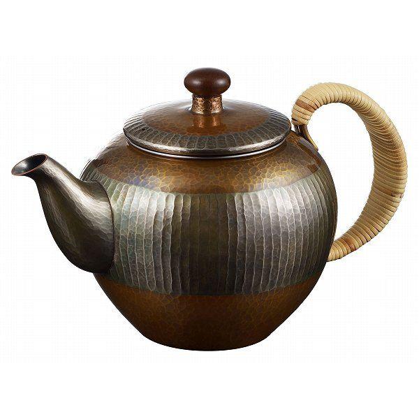 【送料無料】伝統工芸 槌起 金属加工急須素銅/金〈E-2-5〉茶器 記念品 お祝い 御礼 叙勲祝い 叙勲記念 高額記念品