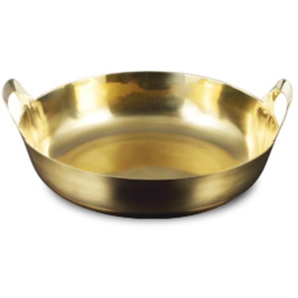 【送料無料】伝統工芸 槌起 金属加工ガス用 真鍮揚げ鍋 33〈gt-12〉鍋類 記念品 お祝い 御礼 叙勲祝い 叙勲記念 高額記念品