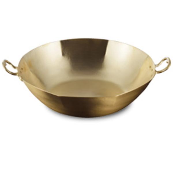 【送料無料】伝統工芸 槌起 金属加工ガス用 真鍮しゃぶしゃぶ鍋 8角24(手付)〈gt-17〉鍋類 記念品 お祝い 御礼 叙勲祝い 叙勲記念 高額記念品