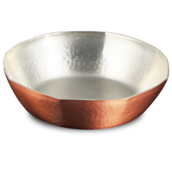 【送料無料】|伝統工芸 槌起 金属加工ガス用 銅すき焼き鍋 一人用8角15|〈nb-14〉鍋類 記念品 お祝い 御礼 叙勲祝い 叙勲記念 高額記念品