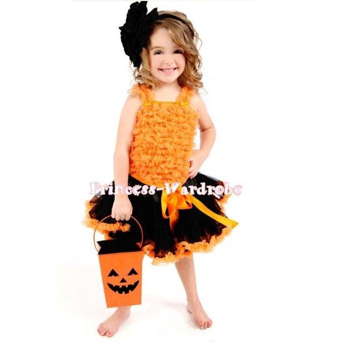 0cafa8a9f Instant delivery ♢ Princess wardrobe Halloween costume pumpkin girl ♢  pumpkin / Pumpkin / orange costume ...