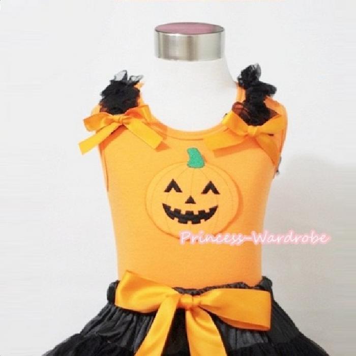 6a90e061f Instant delivery □ Princess wardrobe Halloween costumes pumpkin top and  bottom set □ pumpkin and Pumpkin ...