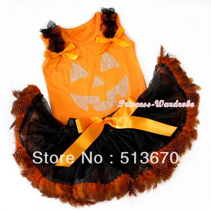 bb48e8fd3 Halloween Pumpkin ♢ pumpkin Princess wardrobe (Princess wardrobe) with Tutu  skirt top and bottom