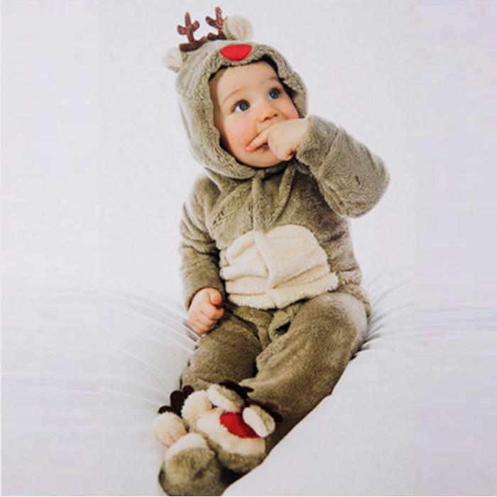 Christmas coverall reindeer cm/90 80 cm / 95 cm ? costume anime baby costume fancy dress costume disguise party children / baby Santa costume Kids ... : reindeer costume baby  - Germanpascual.Com