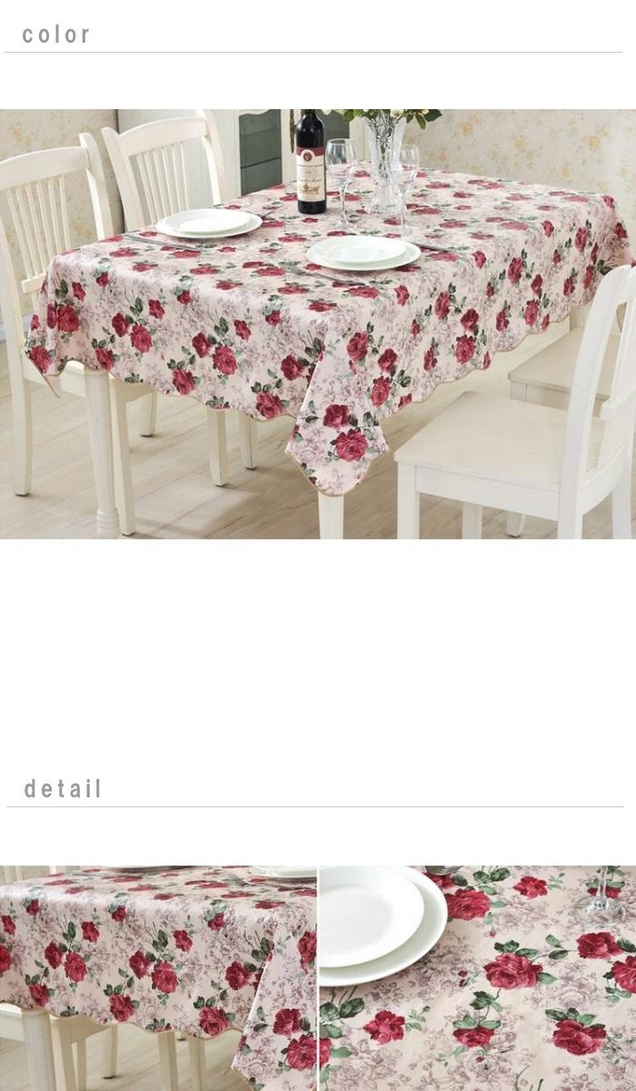 Elegant Rose Tablecloth