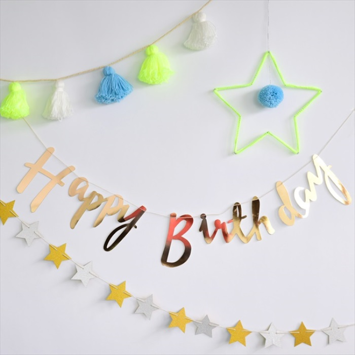 Suzuya Rakuten Ichiba Happy Birthday Script Banner Flowing Garland Meeting Party Goods