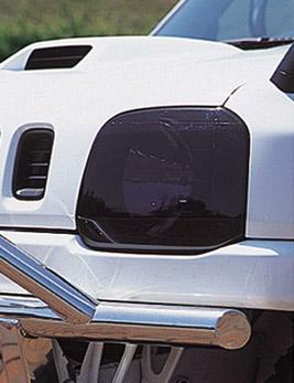 スズキジムニーJB23Wヘッドライトカバー/スモーク ペニーレーン製