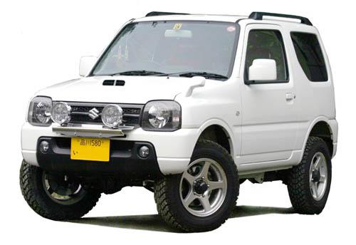 スズキジムニーJB23Wフロントランプステー純正バンパー用フォグランプ最大4灯装着可能定価¥10,000(税別)