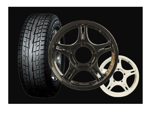 期間限定タイヤ祭り!特価アルミホイールSETSSJ Racing Wheel&NEWスタッドレス ジオランダー IT-S G073 185/85R164本SET組換え/バランス料込み