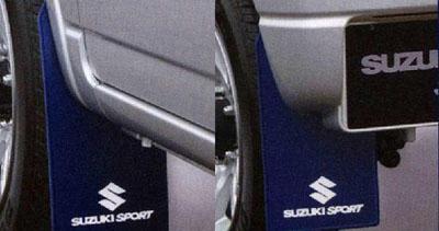 スズキジムニーJB23W8型~純正アクセサリーSUZUKI SPORTSスズキスポーツアクセサリーマッドフラップセット定価¥13,500(税別)99000-99036-G4H