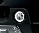 【スズキジムニーJB23W純正アクセサリー】LEDリングイルミ付きフォグランプ99000-990W9-L01定価¥38,000(税別)