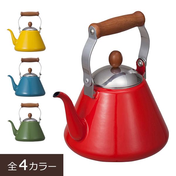木製のハンドルがキッチンをかわいくナチュラルに演出!注ぎ口が細いので量を調節しやすいドリップケトル。琺瑯のやさしさと持つ色の魅力を最大限に生かしたIH対応のキッチンウェア。 コーヒーポット ホーロー 細口ケトル ケトル やかん おしゃれ ih ヤカン ドリップ 細口 注ぎやすい IH対応 ガス火対応 ほうろう 珈琲 紅茶 コーヒー coffee キッチン用品 シンプル 北欧 かわいい 直火 ノルディカ 琺瑯 ドリップケトル 1.7L