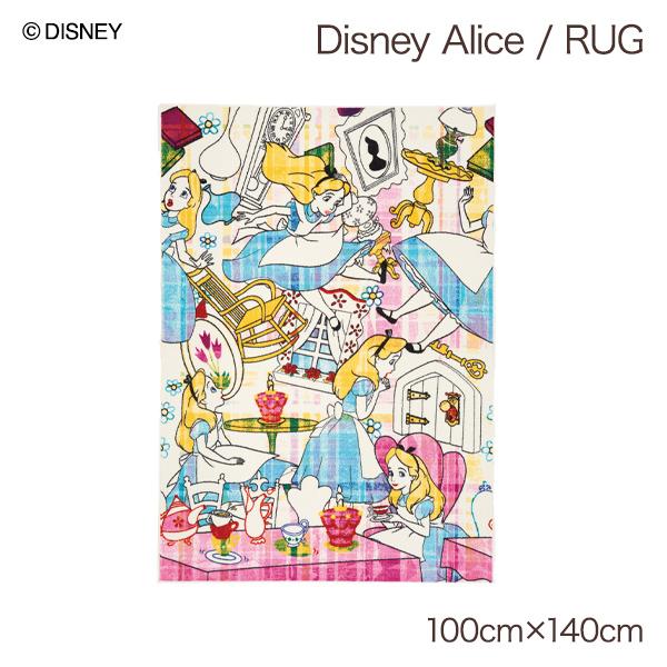 不思議の国のアリス グッズ インテリア ディズニー ディズニーグッズ ラグマット 長方形 遊び毛防止 おしゃれ かわいい デザインラグ おすすめ 売れ筋 雑貨 ギフト 大人 インテリアラグ アリス disney ALICE / Story RUG 約100×140cm