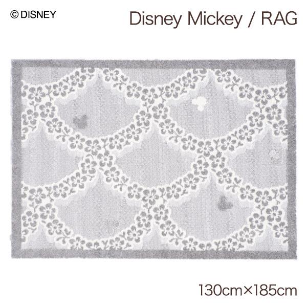 日本製 ミッキーマウス ディズニーグッズ ラグマット 長方形 ホットカーペット対応 床暖房対応 おしゃれ かわいい デザインラグ おすすめ 売れ筋 オールシーズン 大人 ミッキー グッズ 誕生日 プレゼント 雑貨 インテリアラグ disney 約130x185cm / Flower wreathe RUG