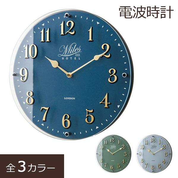 掛け時計 電波時計 壁掛け時計 ウォールクロック 壁時計 壁掛時計 おしゃれ 大きい 北欧 シック ステップムーブメント 壁かけ 電波式 時計 ネイビー グリーン グレー Froyleフロイル