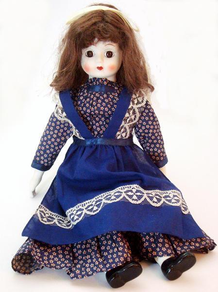 ドイツ製 ヴィンテージ ポーセリン人形 女の子 45cm