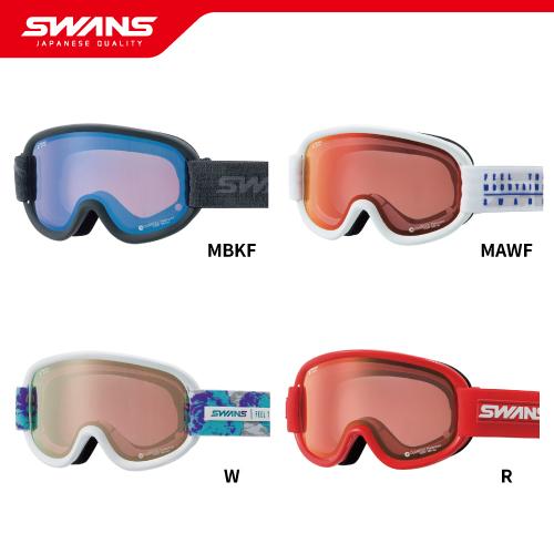 SWANS スワンズゴーグル V4-MPDH-C-PAF 全4色 【偏光・ミラー・PAF・撥水・ダブルレンズ】2018-2019 ウインタースポーツ スキー スノーボード アイウェア ジャパンフィット 日本製