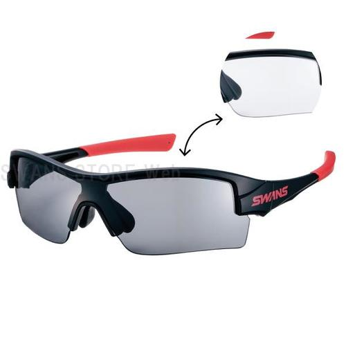 SWANS スワンズ サングラス STRIX H-0066 MBK ストリックス・エイチ 【調光レンズ UVカット サイクル ボールスポーツ アイウェア SWANS公式ショップ スポーツ アウトドア 自転車 ゴーグル アクセサリー】