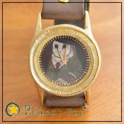 パルナートポック 腕時計 額縁アルバート (専用ボックス付き) 【Palnart Poc/パルナートポック】 送料無料 梟 フクロウ 鳥 バード ウォッチ p2p2