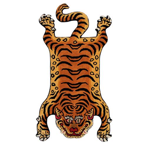 ディテール DETAIL チベタンタイガーラグ DTTR-02 赤 Xラージ Tibetan Tiger Rug X-Large XL カーペット 玄関 マット 絨毯 ラグ