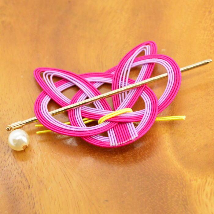 ガーグル gargle マジェステ 猫水引 【ピンク】ねこ ネコ ヘアアクセサリー