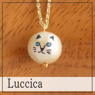 Ruchika Luccica 动物脸猫项链 (只有互换) 猫猫可爱时尚棉珍珠大猫猫猫咪珍珠配件 P20