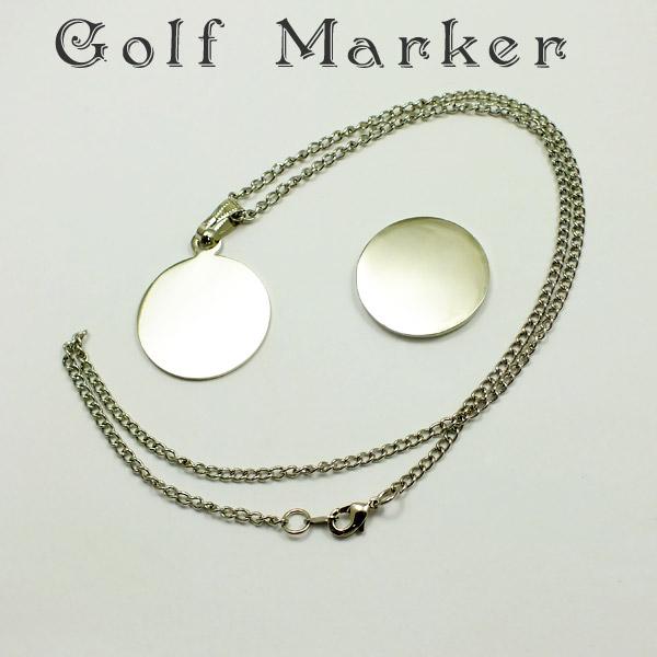 メール便 至上 ゆうパケット OK ネックレスタイプでオシャレにゴルフ グリーンマーカー デコ土台 デコ用ゴルフマーカー 発売モデル デコパーツ