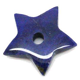 【スター】ラピスラズリ 5個 約18~19mm 天然石 パワーストーン ヒーリング アクセサリーに