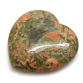 【ハート】ユカナイト 5個 約36mm 天然石 パワーストーン ヒーリング アクセサリーに