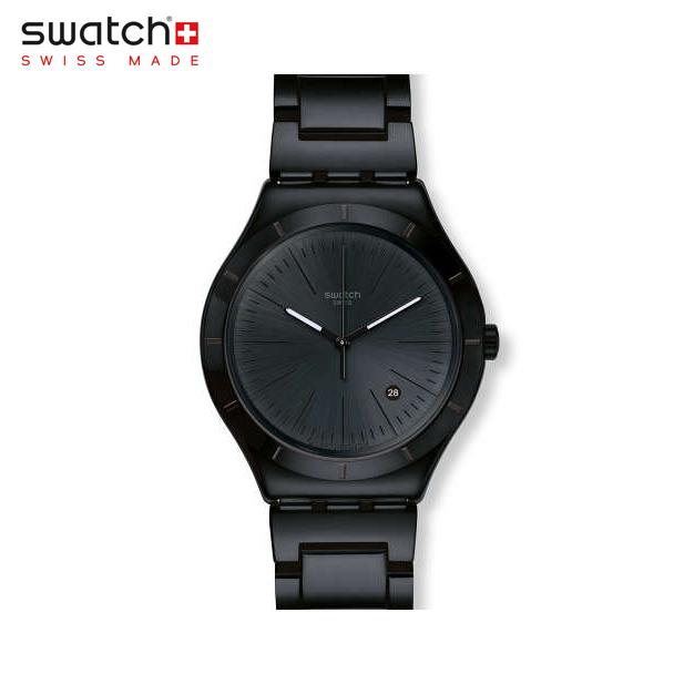 【公式ストア】Swatch スウォッチ NOIR INTENSE ノア・インテンス YWB404GIrony(アイロニー) Irony Big Classic(アイロニービッグクラシック) 【送料無料】(素材)ベルト:ステンレススチール(調節可能)メンズ 腕時計 人気 定番 プレゼント